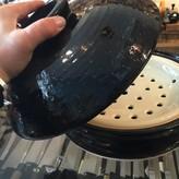 Nagatani-en Black Steamer Donabe With Tongs