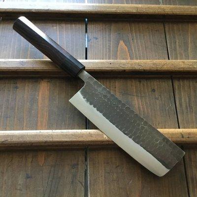 Ohishi 165mm Wa-Nakiri Aogami #2 Tsuchime Kurouchi