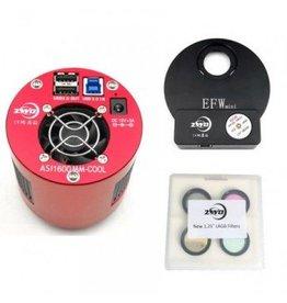"ZWO ZWO ASI1600MM Cooled PRO Mono Camera Kit with EFW Mini & 1.25"" LRGB Filters"