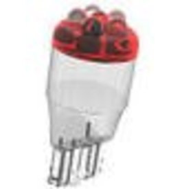 921-R12 T5 5 Red LED Car Dome (Wedge Base)