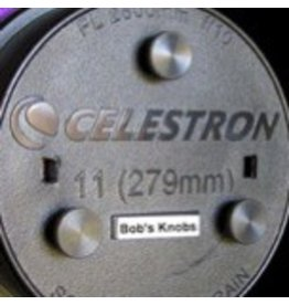 "Bob's Knobs C11metSS Celestron 11"" f/10 SCT with Metric Black Phillips Screws (Stainless Steel)"