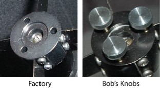 Bob's Knobs Knobs for Orion Skyquest and Starblast NEWTONIAN SET SCREW SECONDARY KNOBS