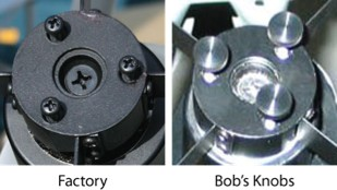 Bob's Knobs Orion Astrograph, Astroview, and Skyquest XT 4-Vane Phillips Screw Secondary