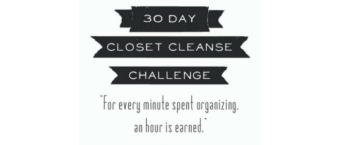 30 Day Closet Cleanse Challenge