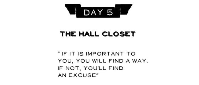 Day 5: The Hall Closet