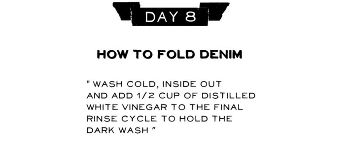 Day 8: How to Fold Your Denim