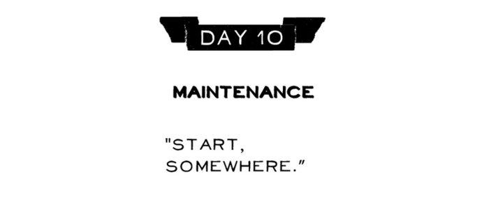 Day 10: Maintenance