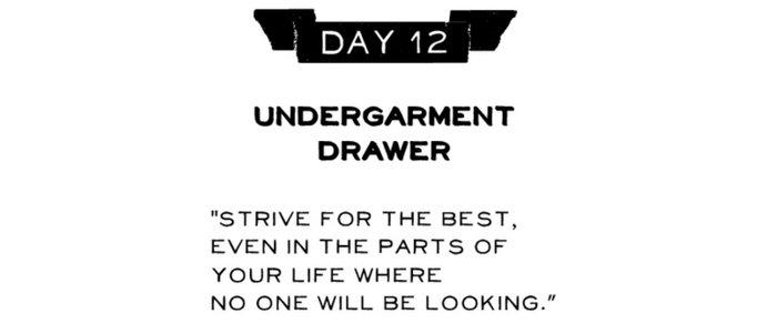 Day 12: Undergarment Drawer