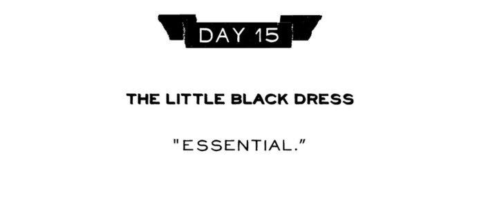 Day 15: The Little Black Dress