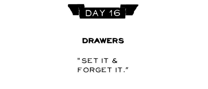 Day 16: Drawers