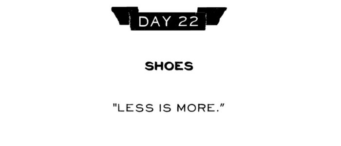 Day 22: Shoes