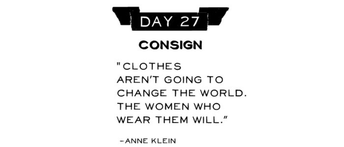 Day 27: Consign