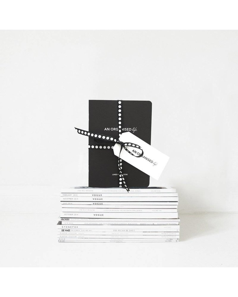 An Organised Life Lined Notebook