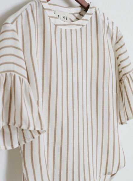 Fine Collection Amanda Bell Sleeve Top