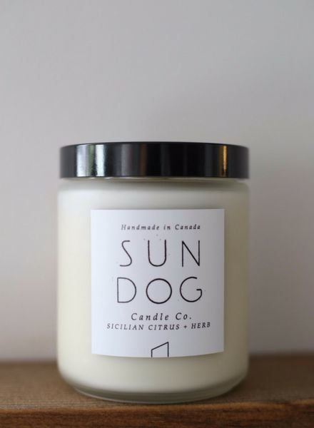Sundog Candle Co. 8oz Frosted Candle