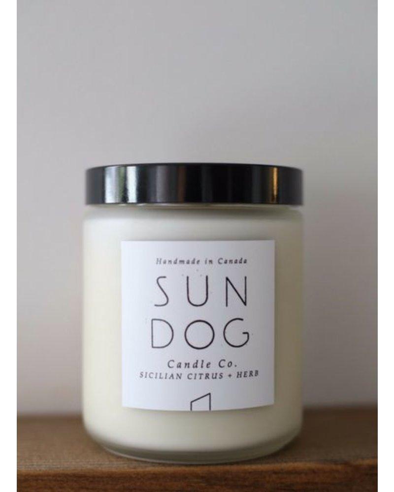 Sundog Candle Co. 8oz Frosted Candle