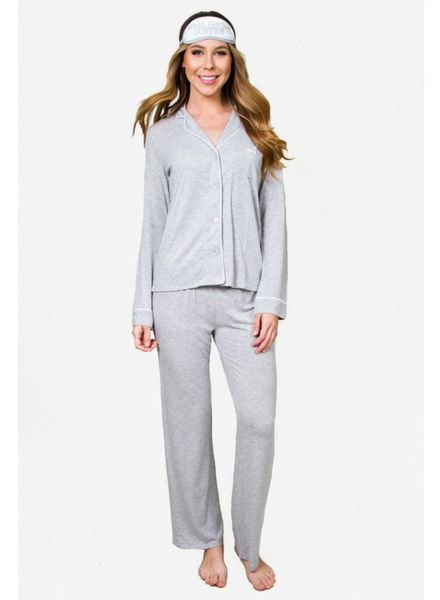PJ Salvage Modal Basics Pj Set with Eye Mask