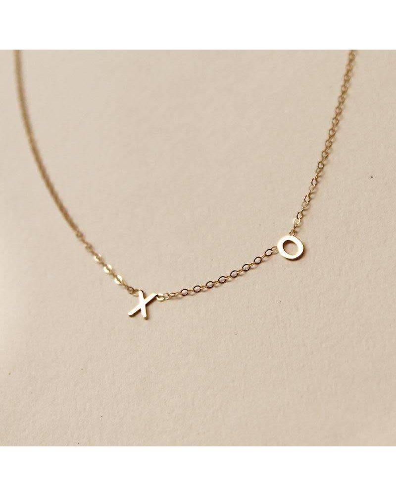 Amarilo XO Initial Necklace