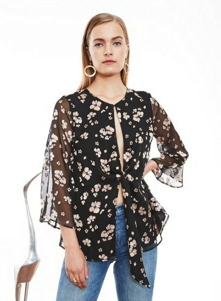 L'Academie The Low Knot Blouse