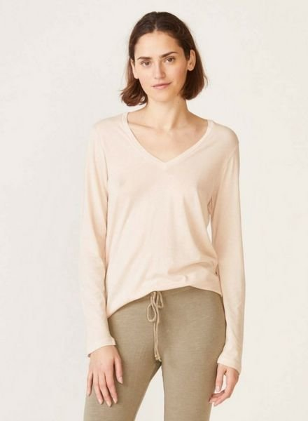 Monrow Long Sleeve Relaxed V Neck