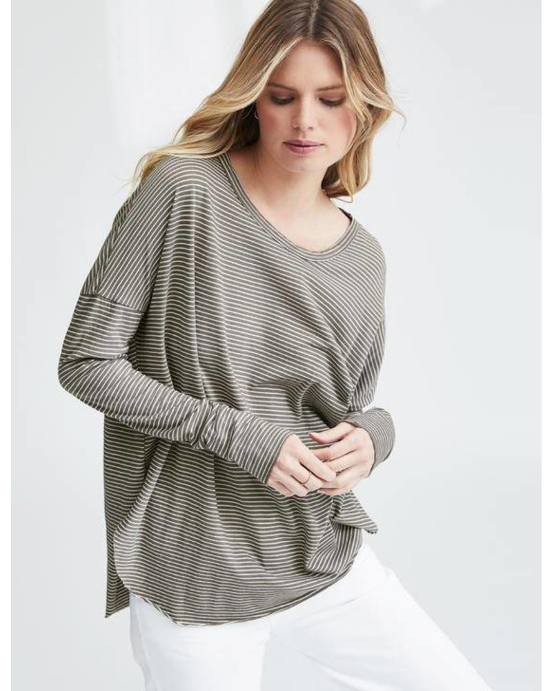 Frank & Eileen Relaxed Long Sleeve Striped Tee