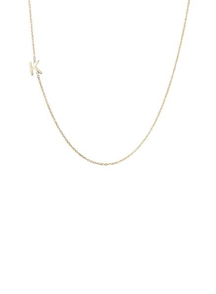 The Right Hand Gal Mini Initial Necklace