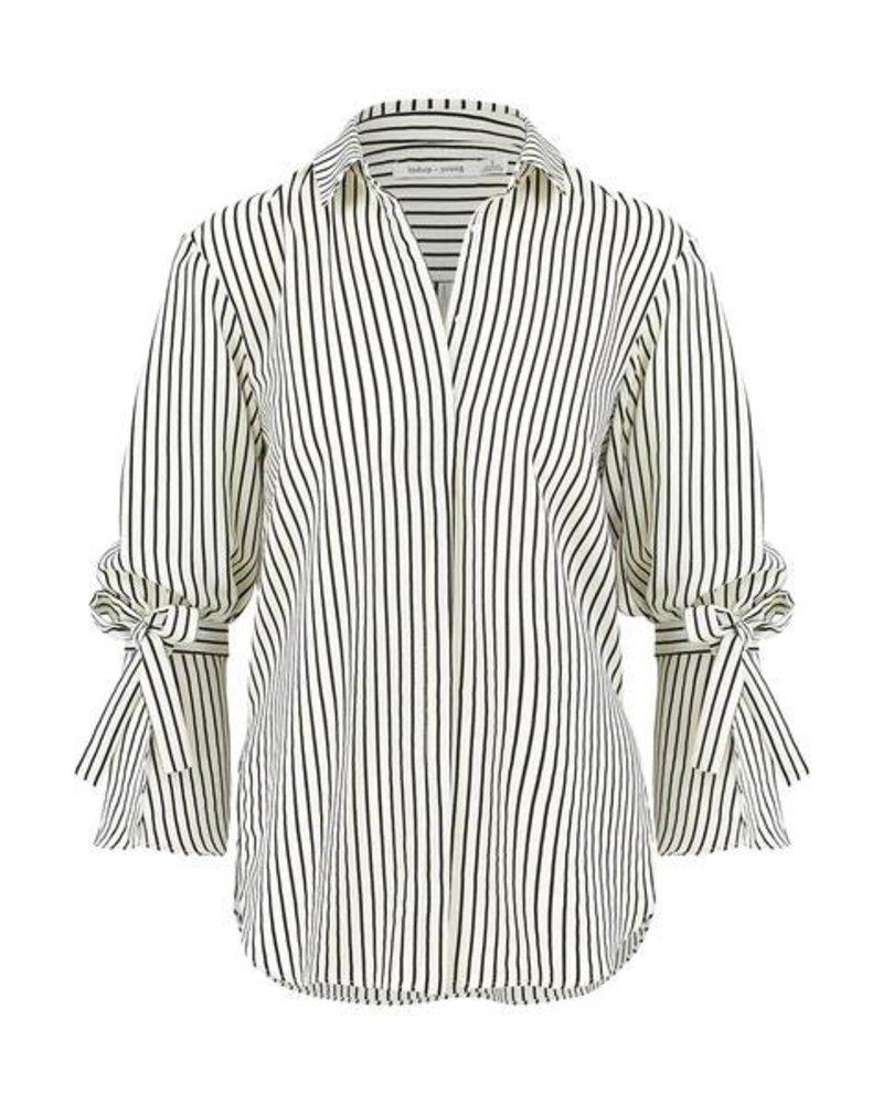 Bishop & Young Stripe Tie Sleeve Blouse