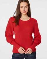 525 America Bell Sleeve Cotton Sweater