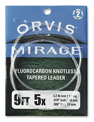 Orvis Orvis Mirage Knotless Leader (2 Pack) 9'