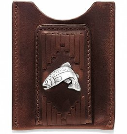 Leegin Creative Leathers Leegin Leather West Fork Money Clip Brown
