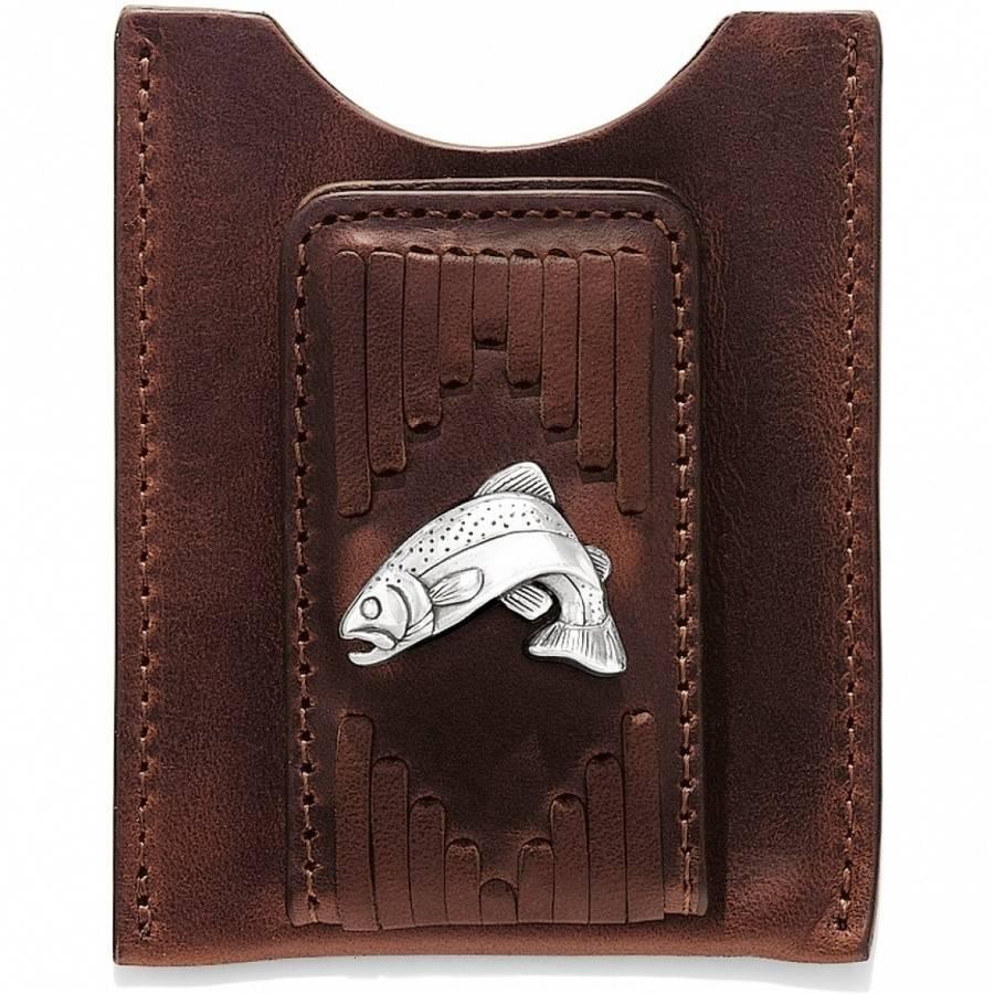 Leegin Creative Leathers Leegin Leather West Fork Money Clip Brown