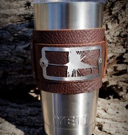 Sight Line Provisions Sight Line Provisions Dry Fly Leather Cuff for Yeti Tumbler