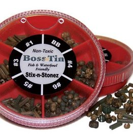 Anglers Accessories Boss Tin Stix-N-Stonze 6-Way