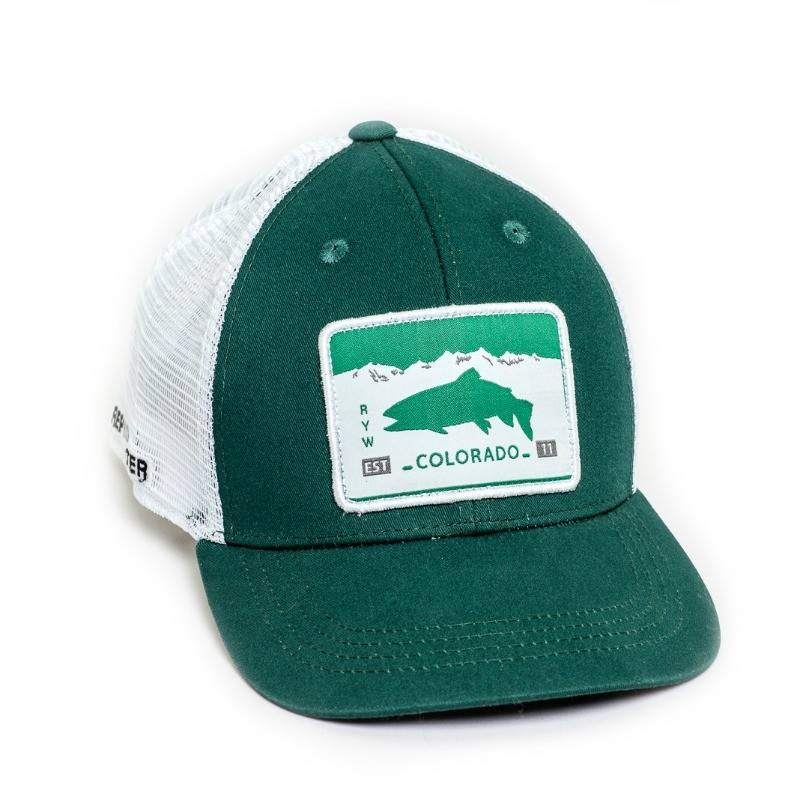 Rep Your Water L.L.P. Rep Your Water Colorado License Plate Mesh Hat Forest/White