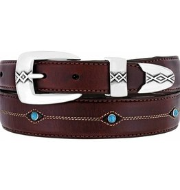 Leegin Creative Leathers Brighton Cody Turquoise Taper Belt