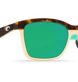 Costa Del Mar Costa Anaa Sunglasses - Shiny Retro Tort/Cream Frame & Mint Lenses