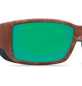 Costa Del Mar Costa Blackfin Sunglasses -  Gunstock Frame & Green Mirror 400G Lens