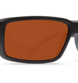Costa Del Mar Costa Fantail Sunglasses -  Black Frame & Copper 580G Lens