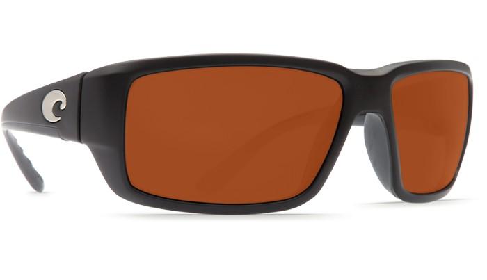 Costa Del Mar Costa Fantail Sunglasses -  Black Frame & Copper 580G Lens