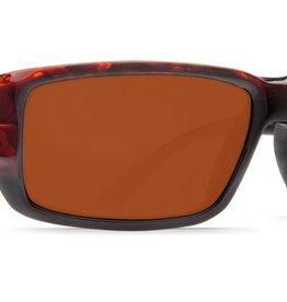 Costa Del Mar Costa Fantail Sunglasses -  Tortoise Frame & Copper 580P Lens