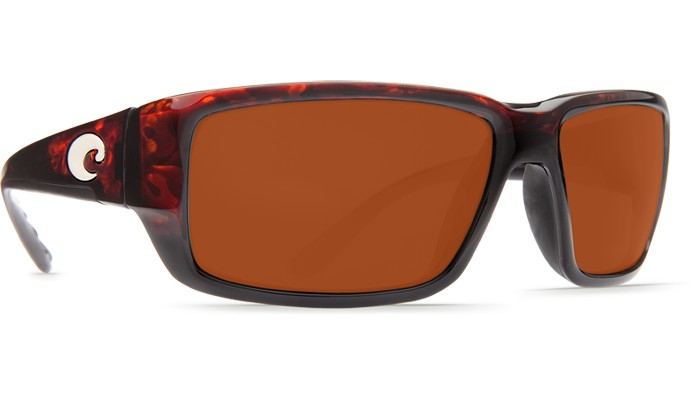 Costa Del Mar Costa Fantail Sunglasses -  Tortoise Frame & Copper 580P Lens