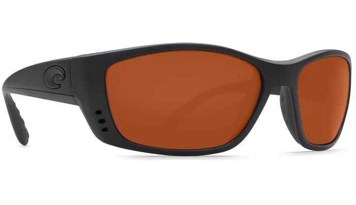 Costa Del Mar Costa Fisch Sunglasses - Blackout Frame & Copper 580G Lens