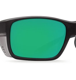 Costa Del Mar Costa Rooster Sunglasses -  Matte Black Frame & Green Mirror 580G Lens