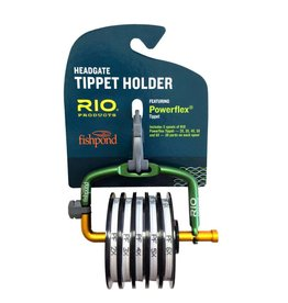 Rio Products Intl. Inc. Fishpond & RIO's Tippet-Loaded Headgate 2X-6X Powerflex Tippet Green/Orange