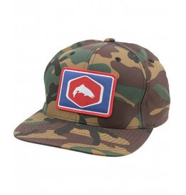 Simms Fishing Products Simms Cotton Twill Patch Snapback - Woodland Camo Fly