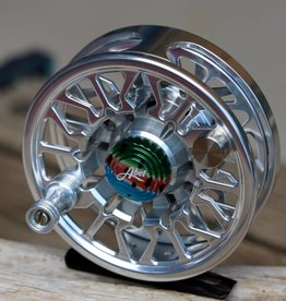 Abel Automatics Abel Custom SD (Sealed Drag) Reel - Platinum with Rainbow Cap and Knob 4/5