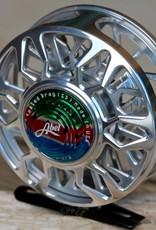 Abel Automatics Abel Custom SD (Sealed Drag) Reel - Platinum with Rainbow Cap and Knob 4/5