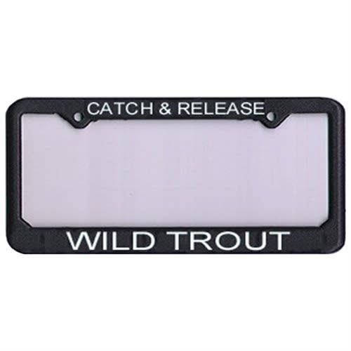 Anglers Book Supply License Frame C&R Wild Trout