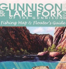 Shook Book Publishing Gunnison & Lake Fork Rivers Fishing Map and Floater's Guide