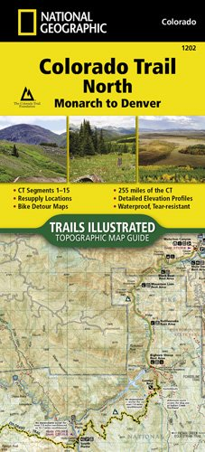 National Geographic Maps Nat Geo Map Colorado Trail North, Monarch to Denver